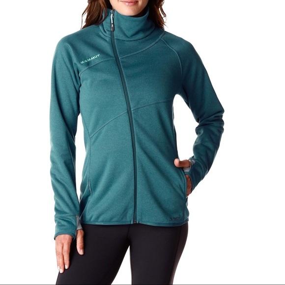 size 40 c5f66 c57a0 Mammut Borah Asymmetric Zip Teal Outdoor Jacket